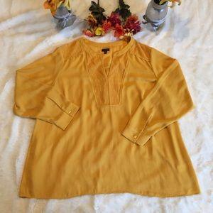 Talbots Mustard Yellow Long Sleeve Popover Sz 3X